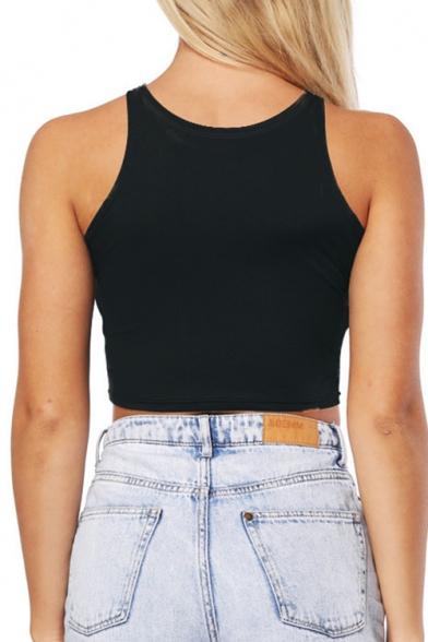 Top Design Moon Galaxy Print Sleeveless Slim Fit Cropped Summer Tank Top Beautifulhalo Com