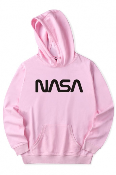 Long Sleeve NASA Letter Hoodie Printed 0ZEExT