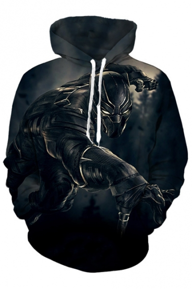 Leisure Sleeve Hot Hoodie Oversize Printed Sale Panther Long qqaCXI