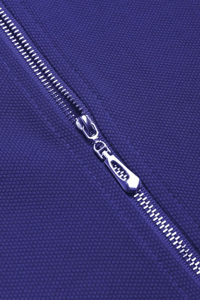 Elegant Cowl Neck Sleeveless Plain Zip Back Mini Pencil Summer Dress