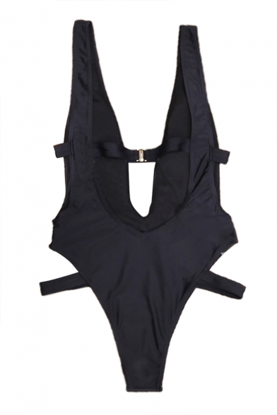 Straps Hollow Piece Sleeveless Trendy New Out Swimwear Sexy One xTcnvxqIW