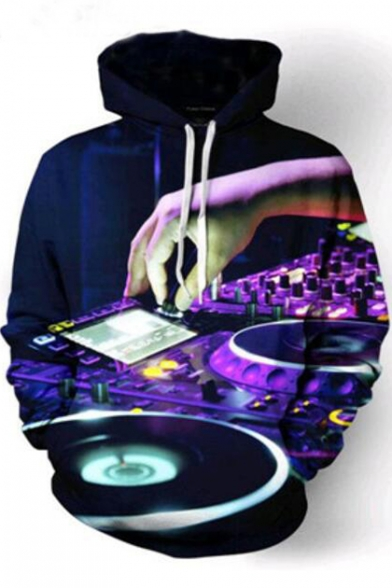 Hoodie Sleeve 3D Printed Long Hand DJ xXUU0Fqwa