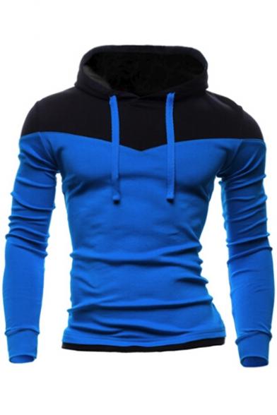 Long Sleeve Slim Men's Block Hoodie Color 7wPnfZqZ6