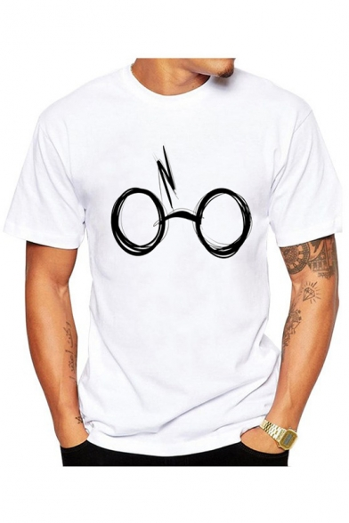 Crew Printed Short Tee Neck Sleeve Glasses 4pTqR7ww