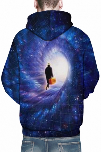 Mysterious Print Character Hoodie Long Unisex Time Pullover Sleeves Galaxy Travel dIIqr6z4w
