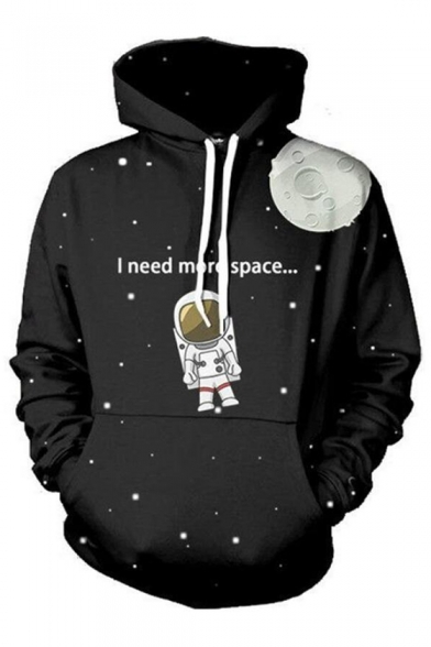 NEED Long Printed Astronaut Sleeve I SPACE Hoodie MORE TRwd7Tzq