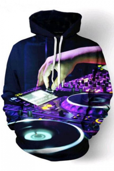 Hoodie Sleeve Long Hand DJ Printed 3D 8Txnag7qw8