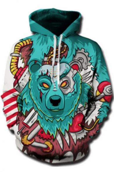 Long Bear Sleeve 3D Printed Hoodie 4SfEgwq
