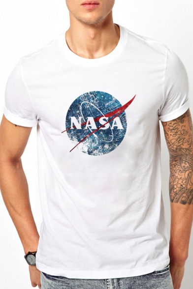 Tee Graphic Nasa Neck Round Sleeve Short Oz8pfBwq