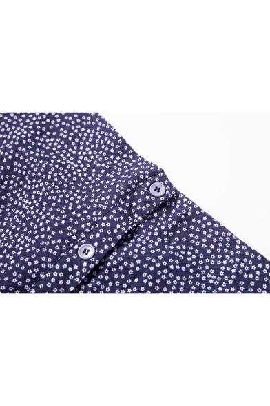 Retro Floral Printed Buttons Down Midi Cami Dress