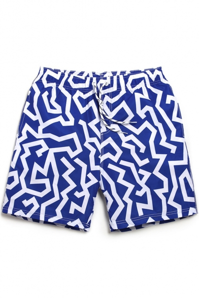 7083ab8ddb ... Top Designer Black and White Drawcord Striped Swim Shorts Trunks for Men  with Pockets ...