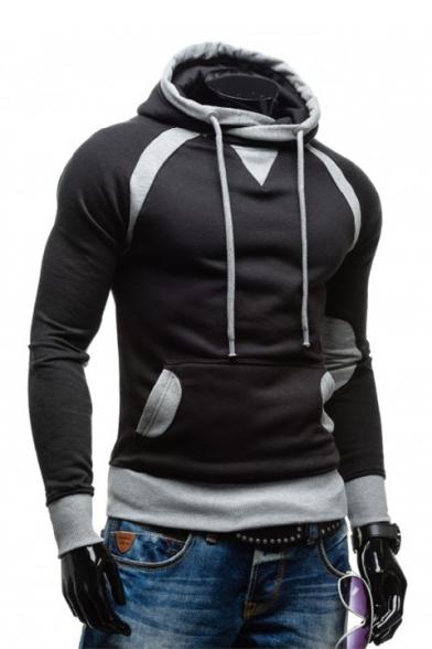 Sleeve Color Men's Long Block Slim Hoodie Pv7tFqw