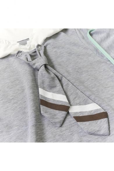 Collar Sleeve Line Printed A Short Navy Short Sleeve Dress Mini Paws pIqUg