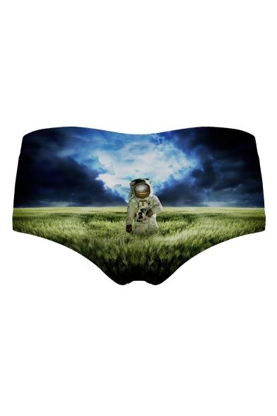 Astronaut Field Printed Women's Underwear Panty