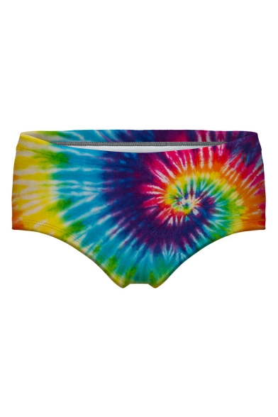 Sexy Tie Dye Printed Skinny Underwear Panty for Women