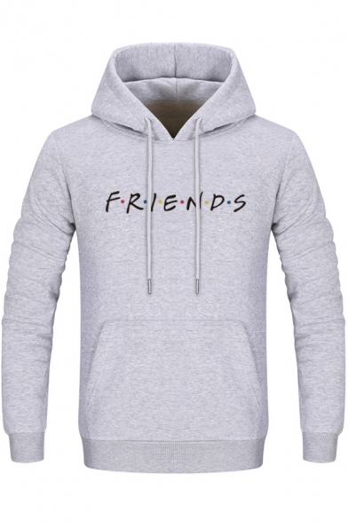 FRIENDS Letter Printed Long Sleeve Leisure Hoodie
