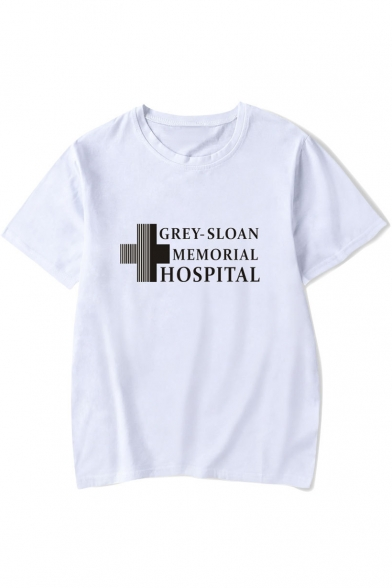 Short Tee Neck Sleeve Round Printed Letter Cross nTHxgZPwqT