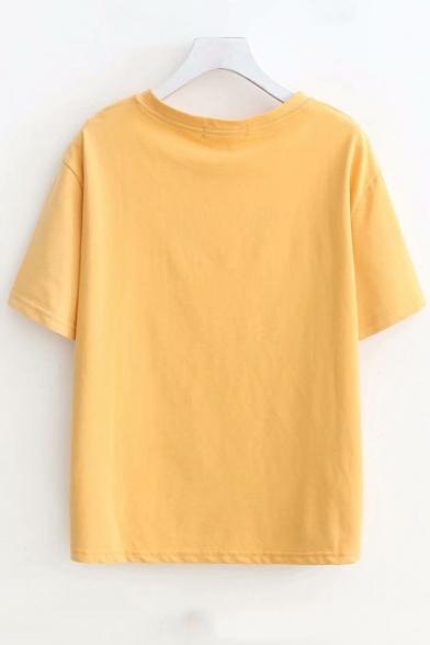 Neck Tee Athlete Short Printed Round Sleeve wBqrEnXq