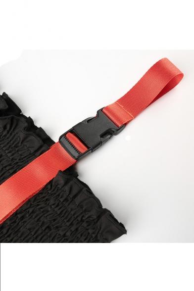 Embellished Color Tank Sleeveless Straps Block Braid Crop qqSRv