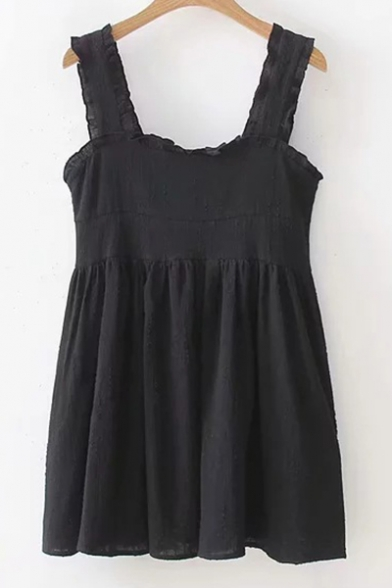 line A Sleeveless Plain Dress Mini Straps w0Pq8Ip