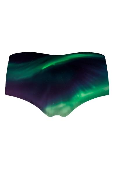 3D Aurora Printed Women's Underwear Panty