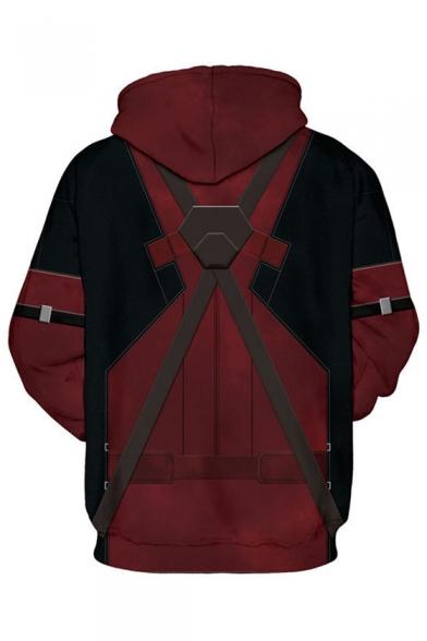 Unisex Long Block Hoodie Sleeve Leisure Color 3D qzU6aa