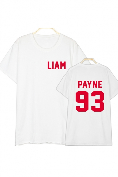 PAYNE Neck Sleeve Tee 93 Round Letter Short Printed qdpwOgU