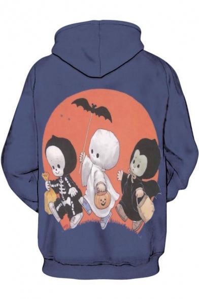 Halloween Series Character Printed Long Sleeve Leisure Hoodie