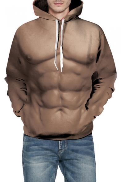 3D Muscle Printed Long Sleeve Fashion Hoodie