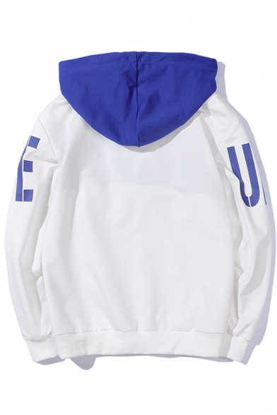 Letter Block Color Arrival New Sleeve Long Hoodie Printed 5zq1Otxw