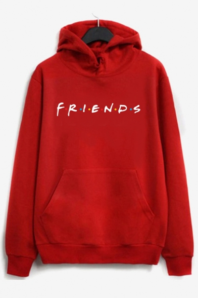 Unisex FRIENDS Letter Printed Long Sleeve Leisure Hoodie