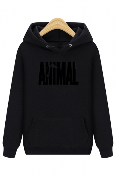 Sleeve Printed Long Loose ANIMAL Leisure Letter Hoodie rqwqWtXIf