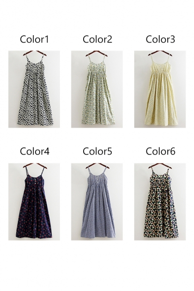 Floral New Dress Button with A Fashion Pattern Cami Line p5A5vq
