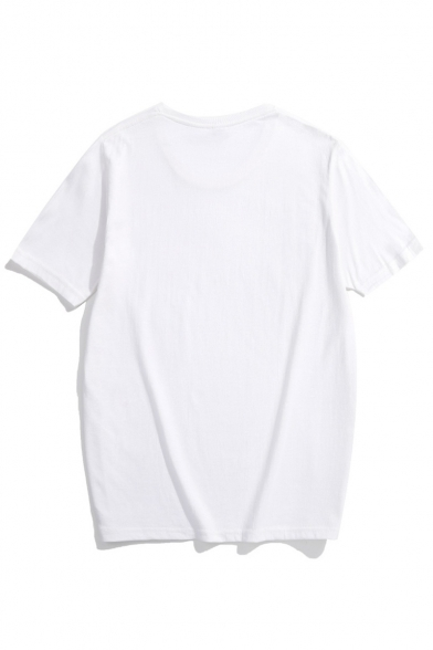 MY Short Sleeve Round Letter Tee OH Neck Printed GOTH d0Yxqv