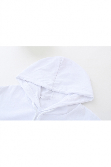 Sleeve Hooded Tee Short Printed PARIS Letter Leisure qxF0WO4