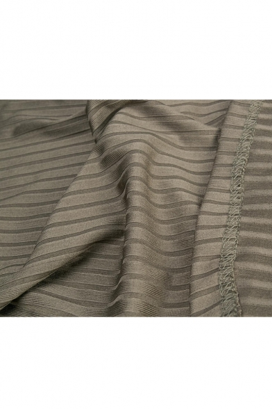 Ribbed High Neck Hollow Out Back Sleeveless Plain Mini Bodycon Dress