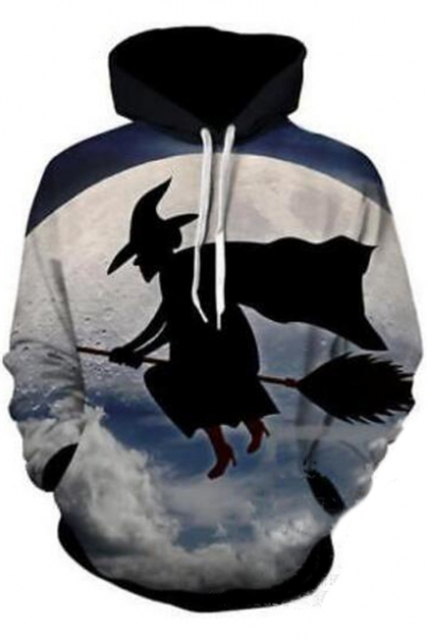 Moon Hoodie Long Character Printed Digital Sleeve Twdq74