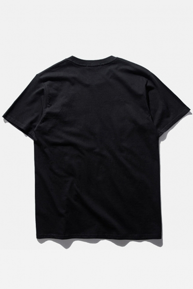 Short SUCK Neck Round Printed Tee PEOPLE MEAN Letter Sleeve HwYOPv