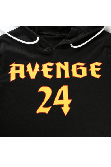 Hoodie Fashion Sleeve Printed Leisure New Number Long Letter ag0vv6