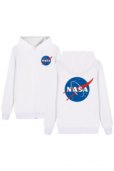 Hoodie Printed NASA Leisure Sleeve Long Letter Star H4nq8O