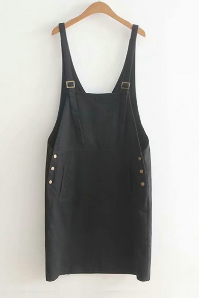 Dress Button Overall Pocket Plain Simple with qxRtBwwE