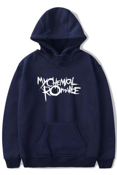 MY CHEMICAL ROMANCE Letter Printed Long Sleeve Hoodie