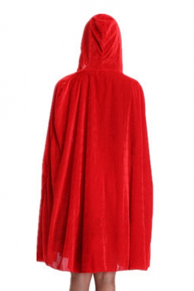 Halloween Plain Series Hooded Loose Cape 5r5qHw0