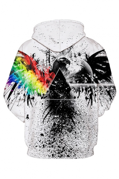 Hoodie Unisex Printed Long Eagle Triangle Sleeve wqxXfIFHna