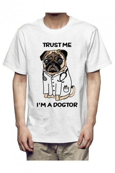 Dog TRUST Round Letter Short Shirt Printed Sleeve Neck ME T AqvESqZxp