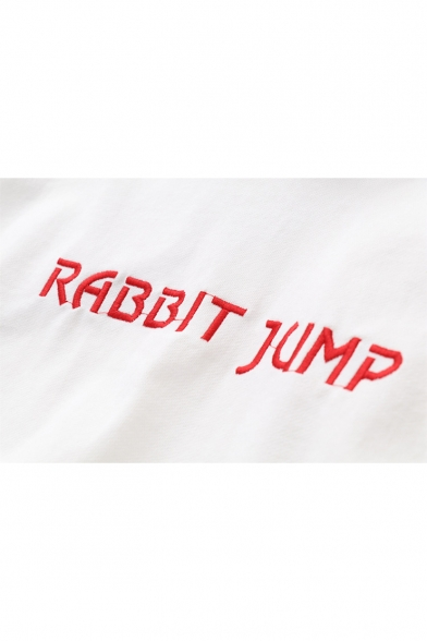 Letter Hoodie Sleeve Long RABBIT Embroidered JUMP awHgqa56