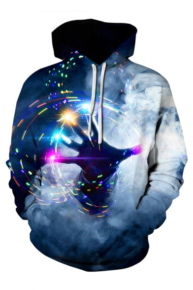 Couple Sleeve Hand Oversized for Hoodie Printed Long xYqw0qAf