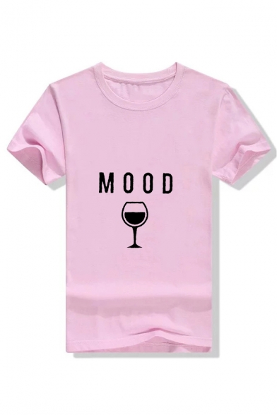 MOOD Long T Shirt Sleeve Neck Printed Round Cup Graphic WwcnHrScq