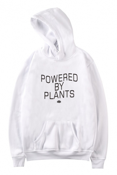 POWERED Sleeve Letter Hoodie BY PLANTS Casual Printed Long Z1Zr4w