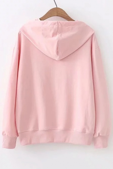 MAY Hoodie Long Sleeve Printed Letter Casual Rabbit rqFZwTr